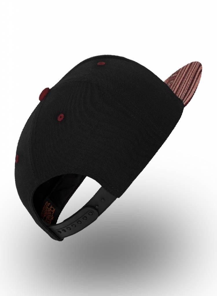 Yupoong Flexfit Snapback Black Aztec Red