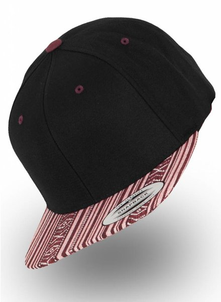 Yupoong Flexfit Snapback Black Aztec Red