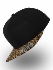 Yupoong Flexfit Snapback Black-Leopard Gold