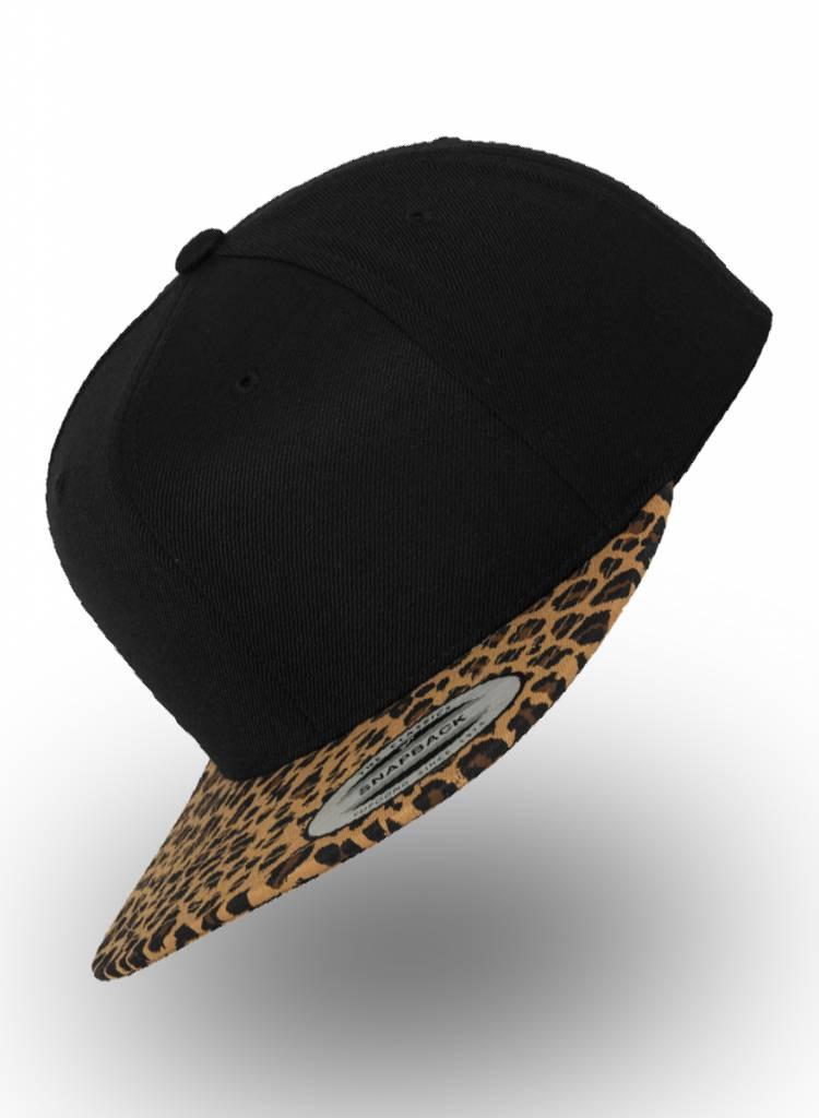 Yupoong Flexfit Snapback Black-Leopard Khaki