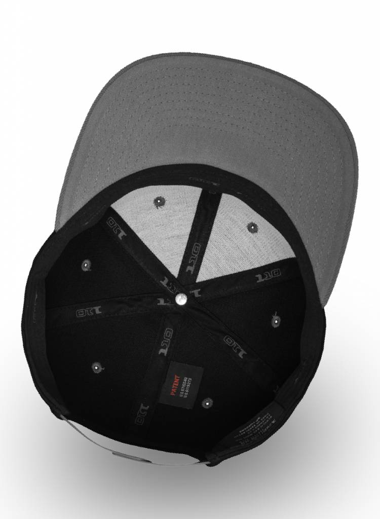 Yupoong Flexfit Snapback 110F Black-Grey