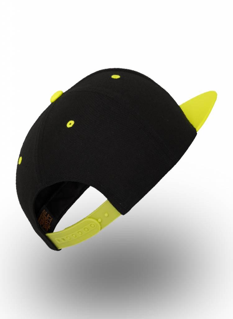 Flexfit by Yupoong Custom Snapback Back Neon-Yellow