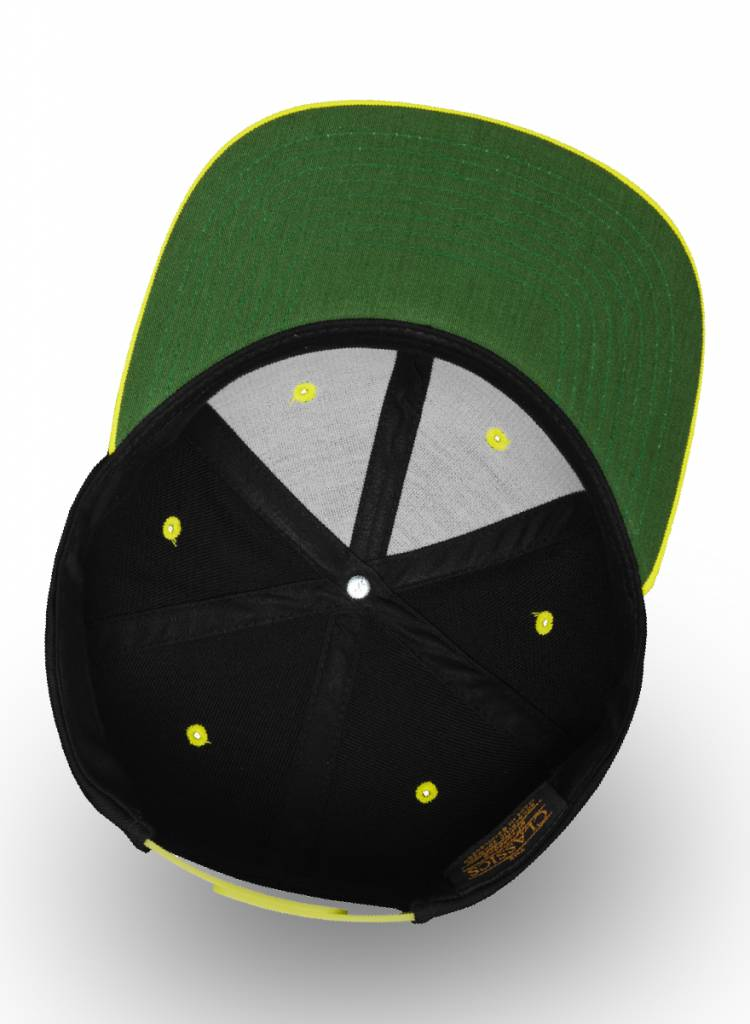 Yupoong Custom Snapback Back Neon-Yellow