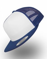 Yupoong Truckers Cap Royal Wit