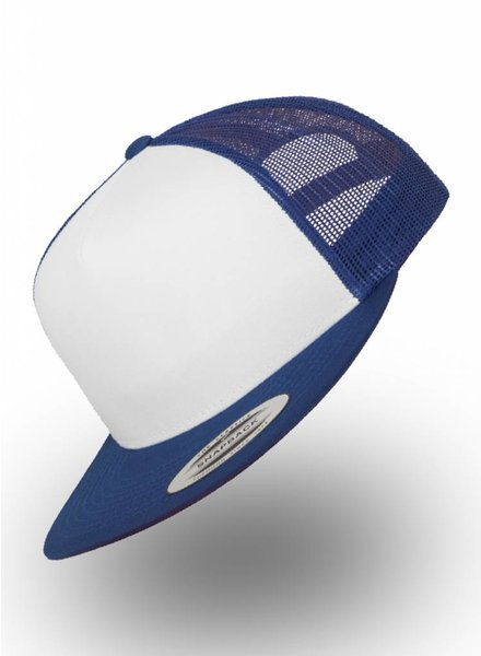 Flexfit by Yupoong Truckers Cap Royal Weiß
