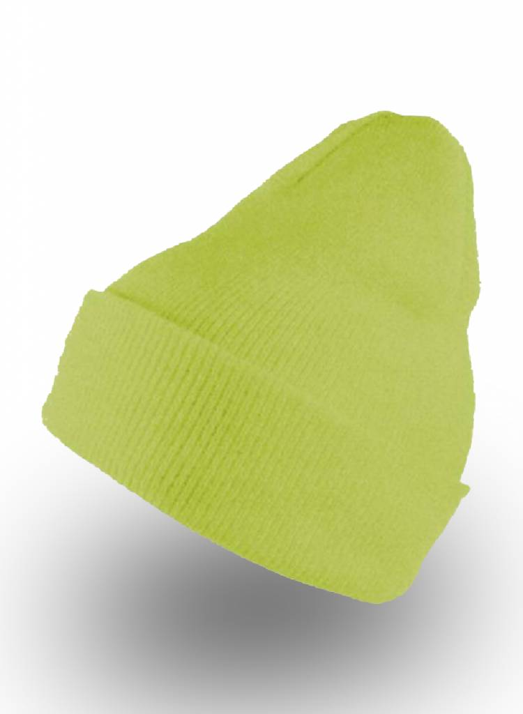 Yupoong Custom Beanie Safety Green