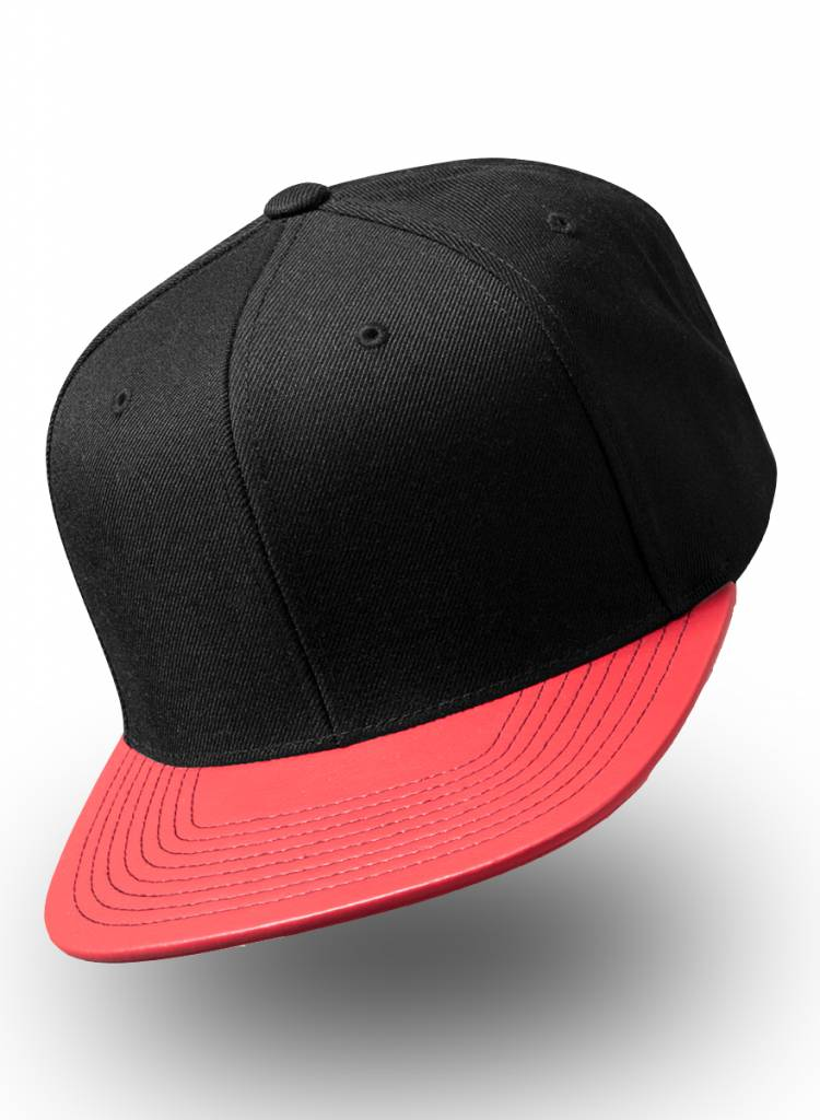 Yupoong Snapback Metallic Visor Red