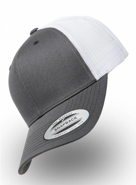 Yupoong Retro Truckers Cap Charcoal Wit