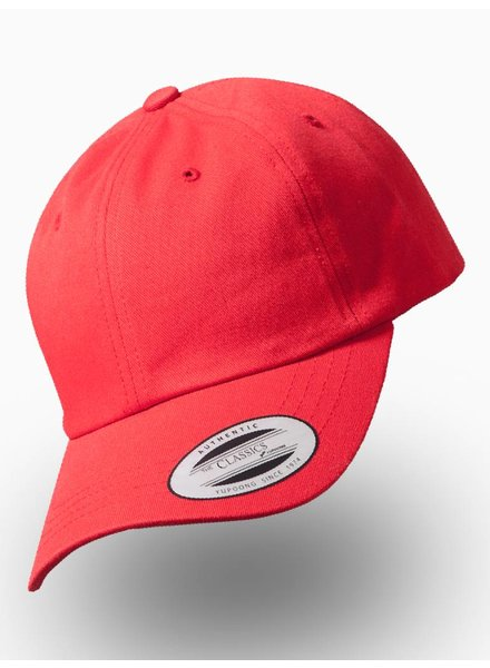 Yupoong Dad Cap met strap Rood