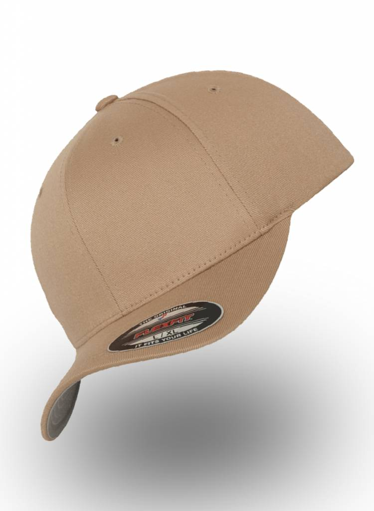Flexfit by Yupoong Baseball cap met een dichte achterzijde Khaki
