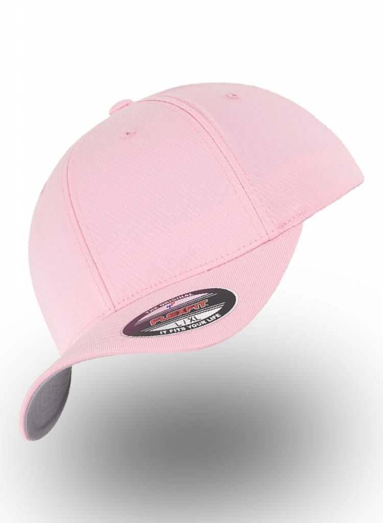 Yupoong Fitted Baseball cap Pink