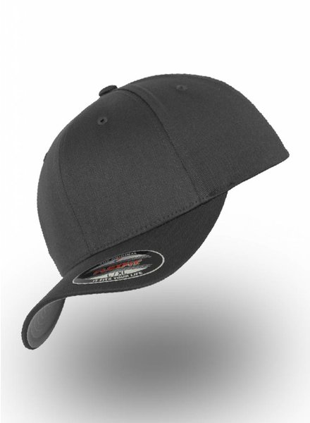 Flexfit by Yupoong Baseball Cap Fitted  Dark Grey