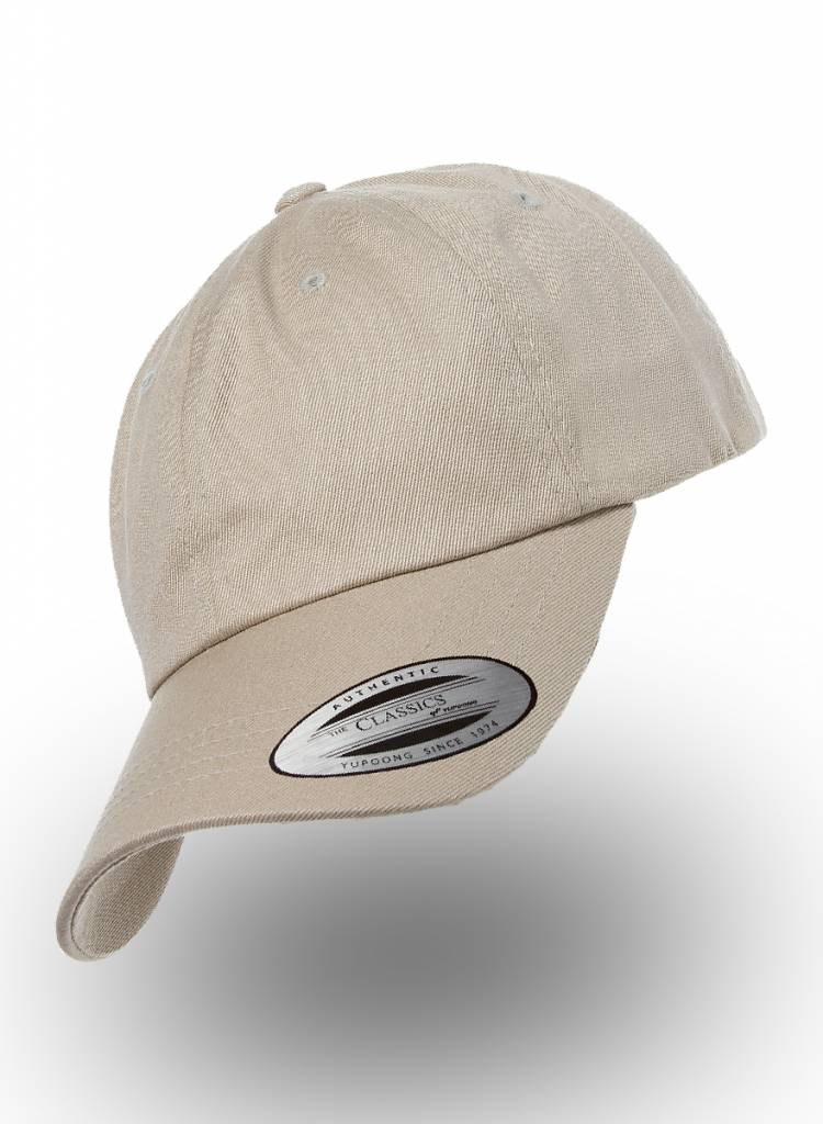Yupoong Dad Cap with strap  Khaki