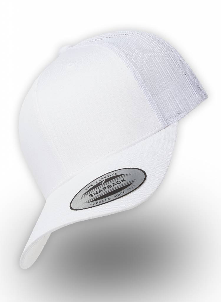 b6d4e8ae2e7 Flexfit by Yupoong Retro Truckers Cap White - Personalised headwear