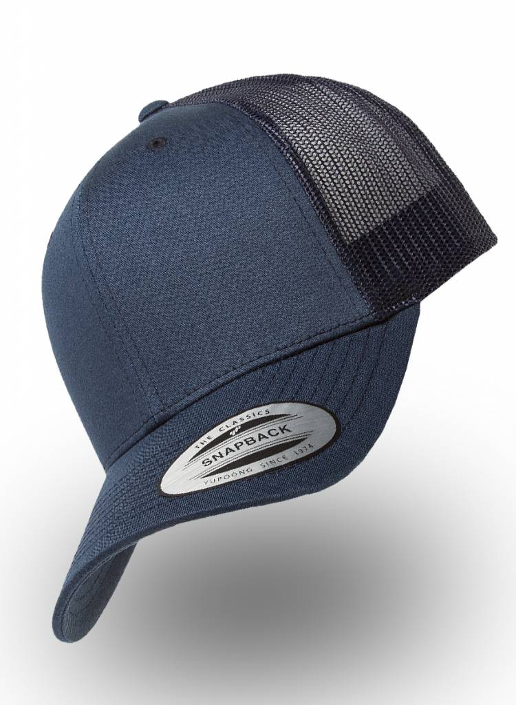 Yupoong Flexfit Retro Truckers Cap Navy