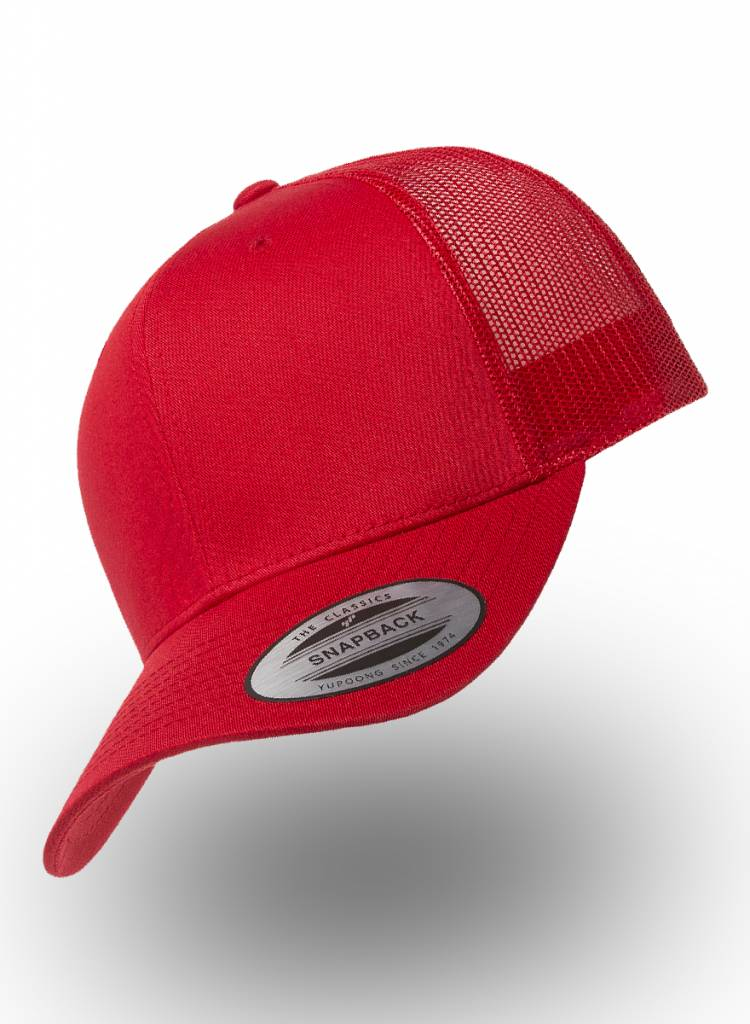 Flexfit by Yupoong Retro Truckers Cap Red