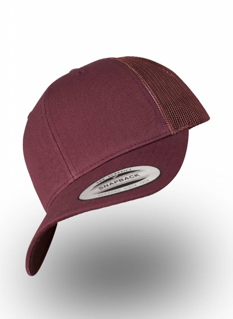 Flexfit by Yupoong Retro Truckers Cap Maroon