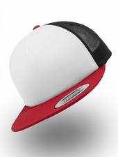 Flexfit by Yupoong Foam Truckers Cap Red White Black