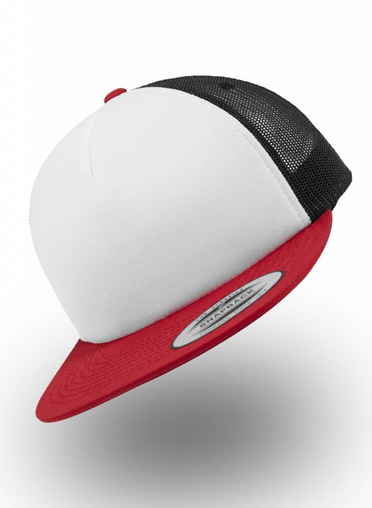 Yupoong Foam Truckers Cap Red White Black ... 0454880993d