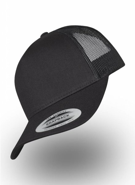 Yupoong 5-panel Truckers Cap Black