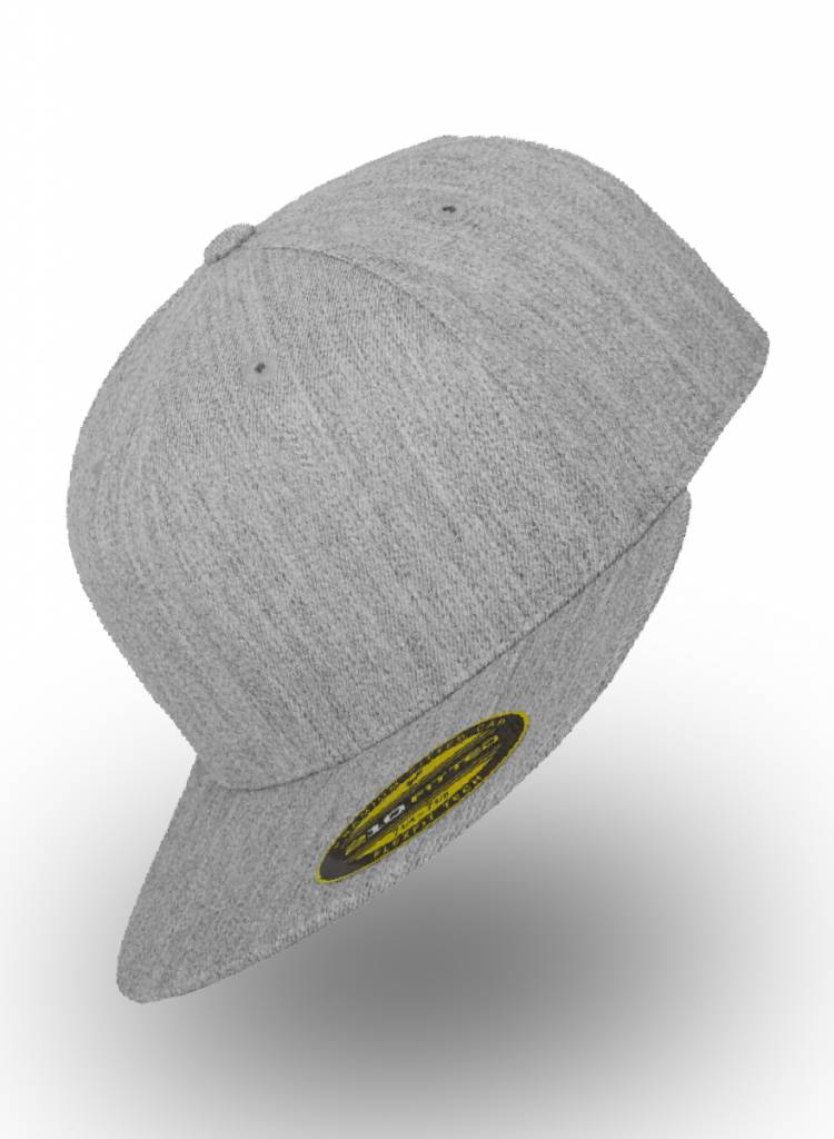 Yupoong Fitted Heather Grey