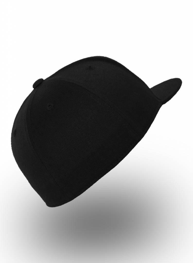 Yupoong Fitted Cap Zwart