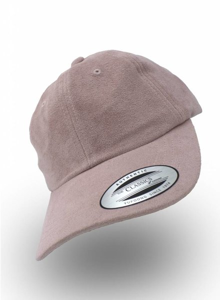 Yupoong Dad Cap Pink Suede (Faux)