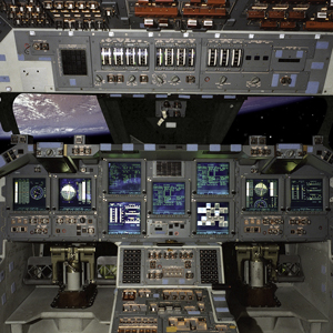 Dashboard ruimteschip