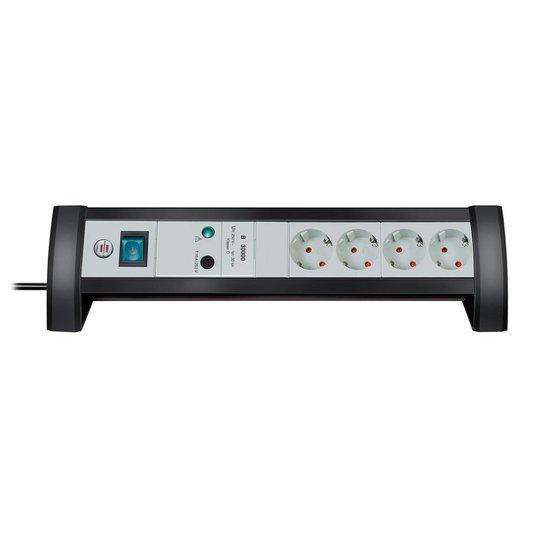 Brennenstuhl Premium Desk 4 stekkerdoos met overspanningsbeveiliging
