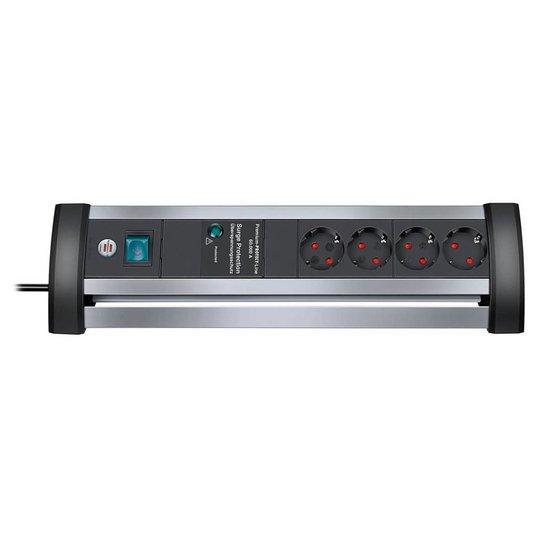 Brennenstuhl Alu Premium Desk 4 stekkerdoos met overspanningsbeveiliging