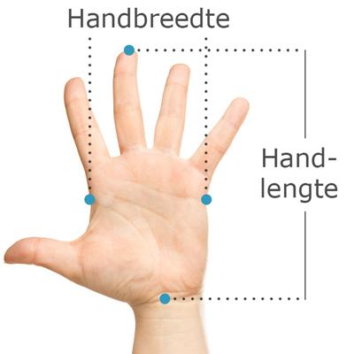 handmaat voor linkshandige evoluent 4