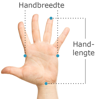 handmaat voor linkshandige ergonomische bedrade Handshoemouse