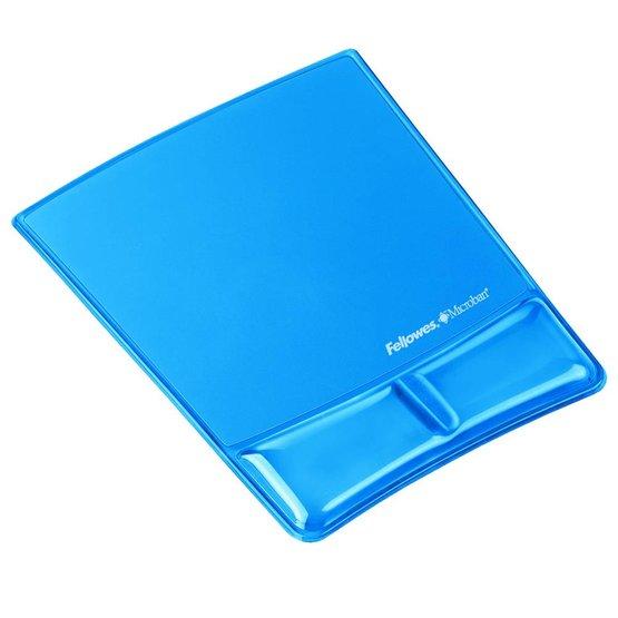 Fellowes Health-V Crystal muismat met polssteun blauw