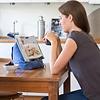 The Bookseat Boekenstandaard en tabletstandaard paisley