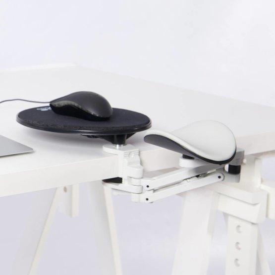 Ergorest ergonomische armsteun + muis plateau grijs-wit