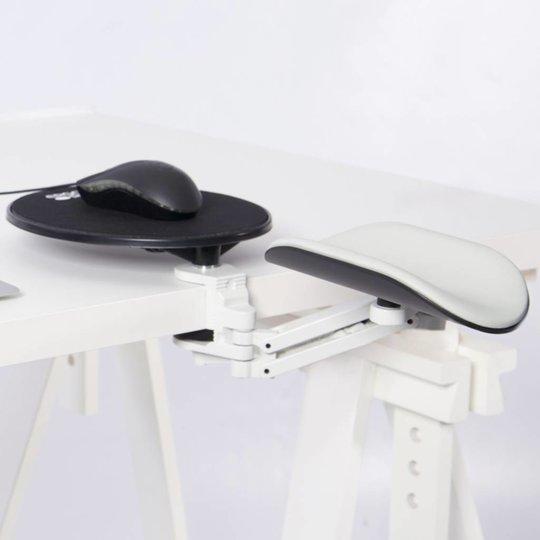 Ergorest ergonomische armsteun + muis plateau grijs-wit lange steun