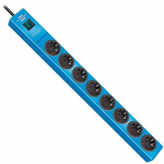 Brennenstuhl Hugo! 8-weg stekkerdoos blauw