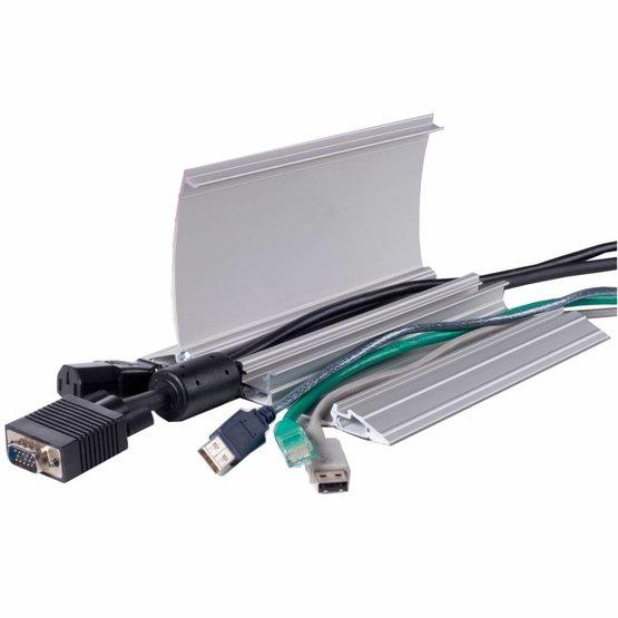 Ergopro Acces aluminium kabelgoot voor op de vloer incl. antislip