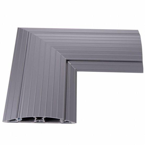 Ergopro Acces kabelgoot - plat hoekstuk van 90˚ 200x200mm incl. antislip - aluminium