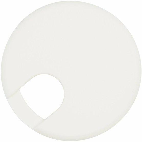 Kabeldoorvoer rond 2-delig kunststof wit