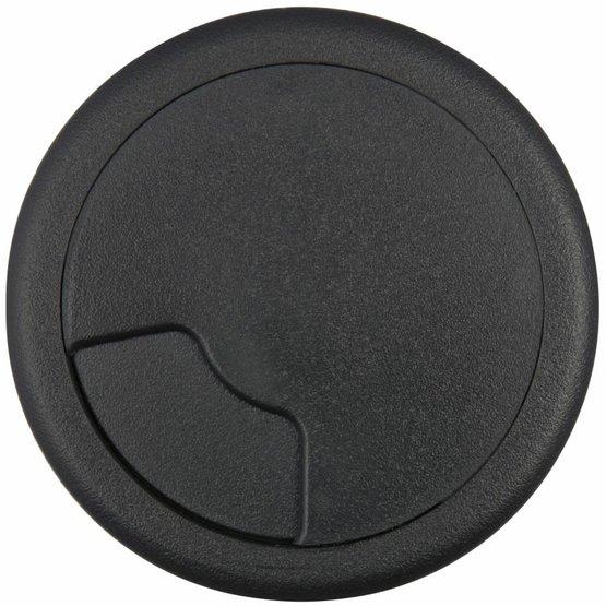 Kabeldoorvoer rond 3-delig afsluitbaar kunststof zwart