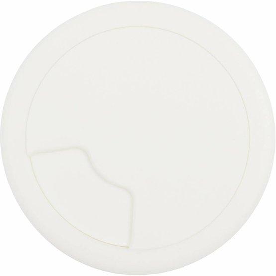 Kabeldoorvoer rond 3-delig afsluitbaar kunststof wit