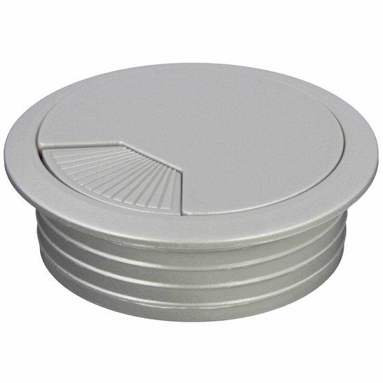 Kabeldoorvoer rond 2-delig met traploos verstelbare afsluiting kunststof zilvergrijs
