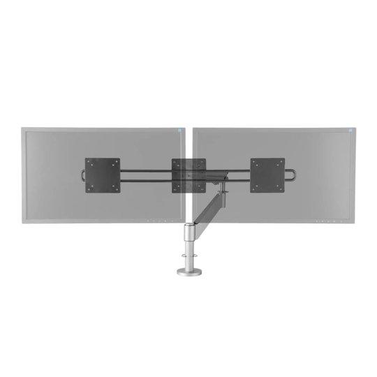 """R-Go Caparo 3 Pro Crossbar monitor arm met gasveer voor 2 monitoren 10-30"""""""