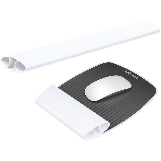 Fellowes I-Spire Series flexibele muismat met polssteun voor muis en toetsenbord wit