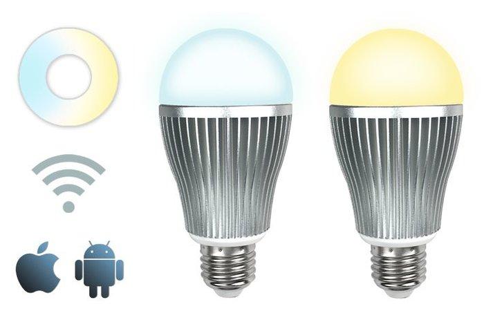 Wifi APP kit met één 9W Dual White LED - App en afstandsbediening
