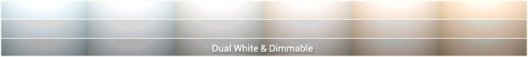 Dual White inbouwspot color table