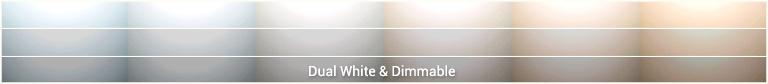 Dual White inbouwspot color table