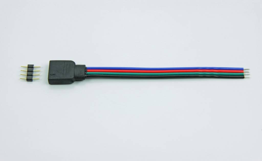 4 pin ledstrip RGB connector, 10cm