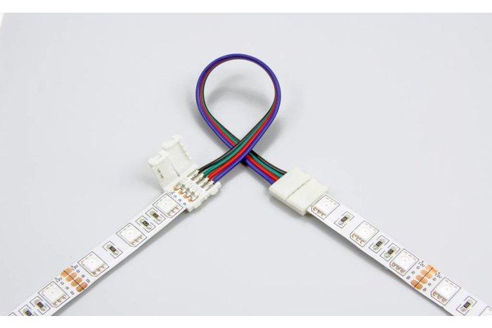 Flexibel soldeervrij koppelstuk voor RGB LED strips, 15cm